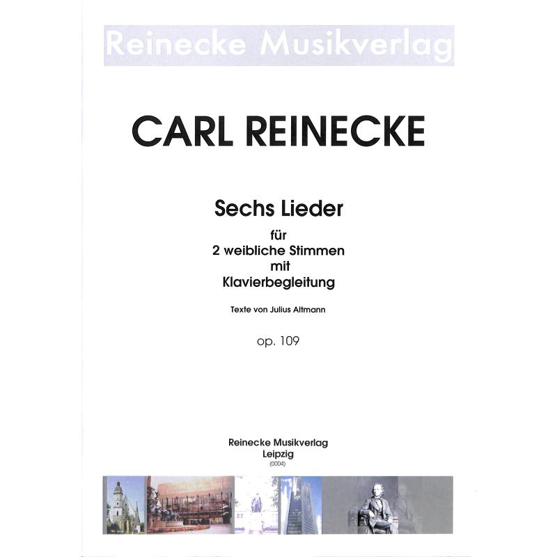 Titelbild für REINECKE 0004 - 6 LIEDER OP 109 FUER 2 WEIBLICHE STIMMEN