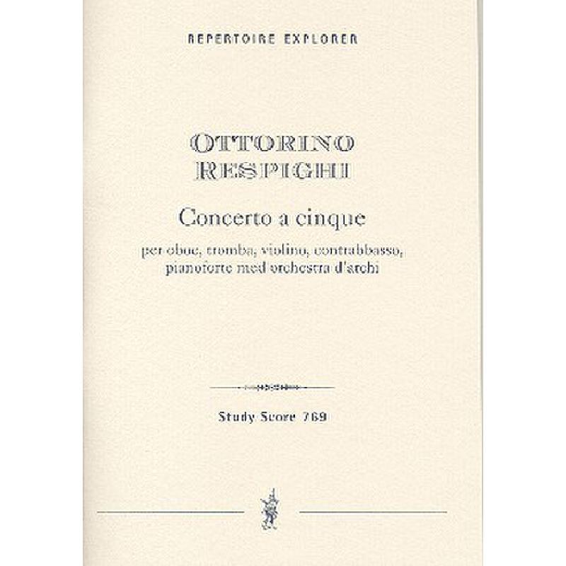 Titelbild für MPH 769 - CONCERTO A CINQUE