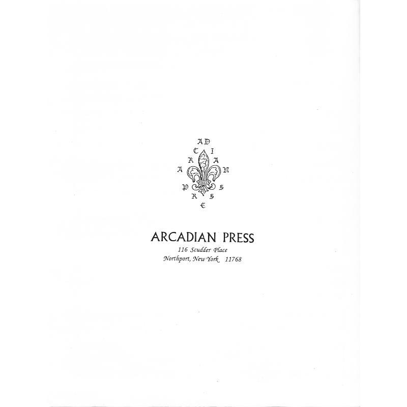 Notenbild für ARCADIAN 156A - PAVANE OP 50