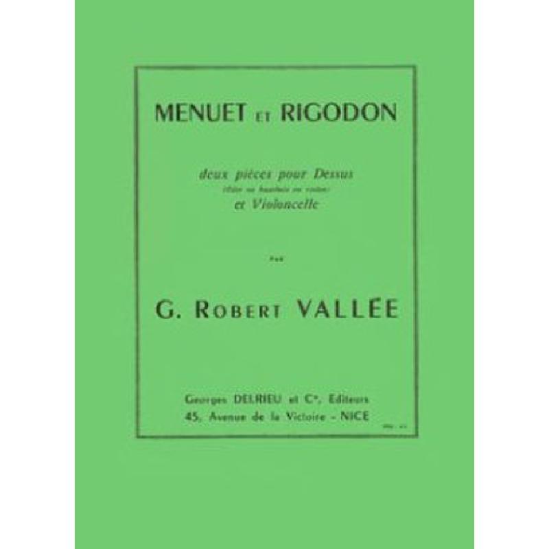 Titelbild für DELRIEU 1233 - MENUET + RIGODON