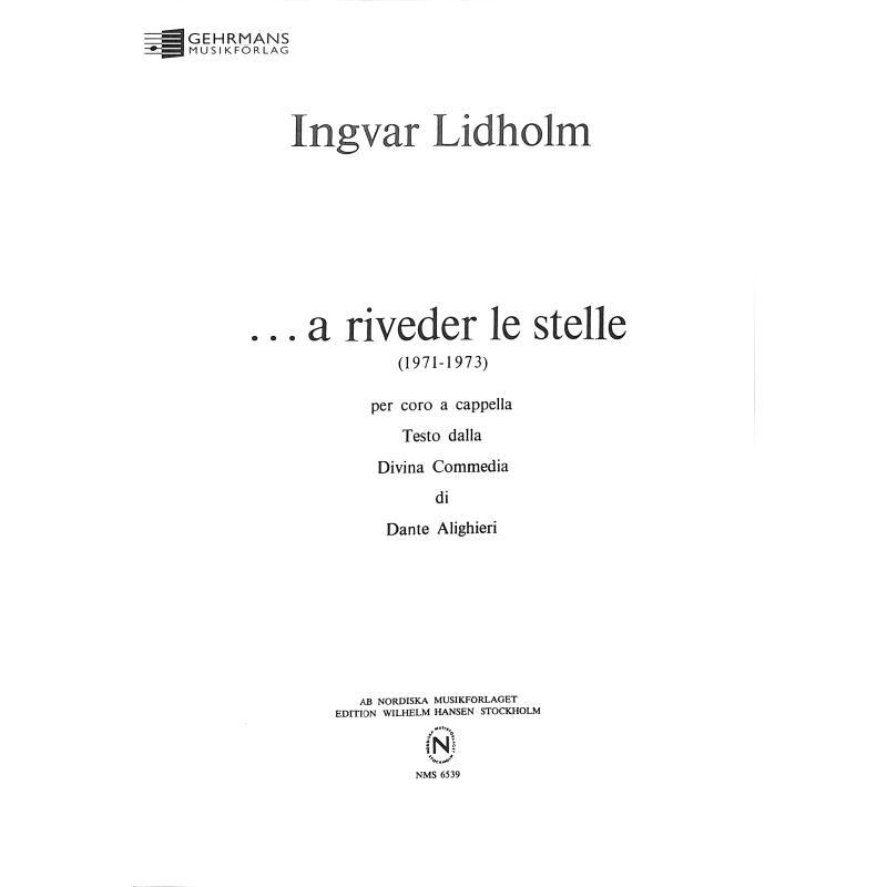 Titelbild für NMS 6539 - A RIVEDER LE STELLE