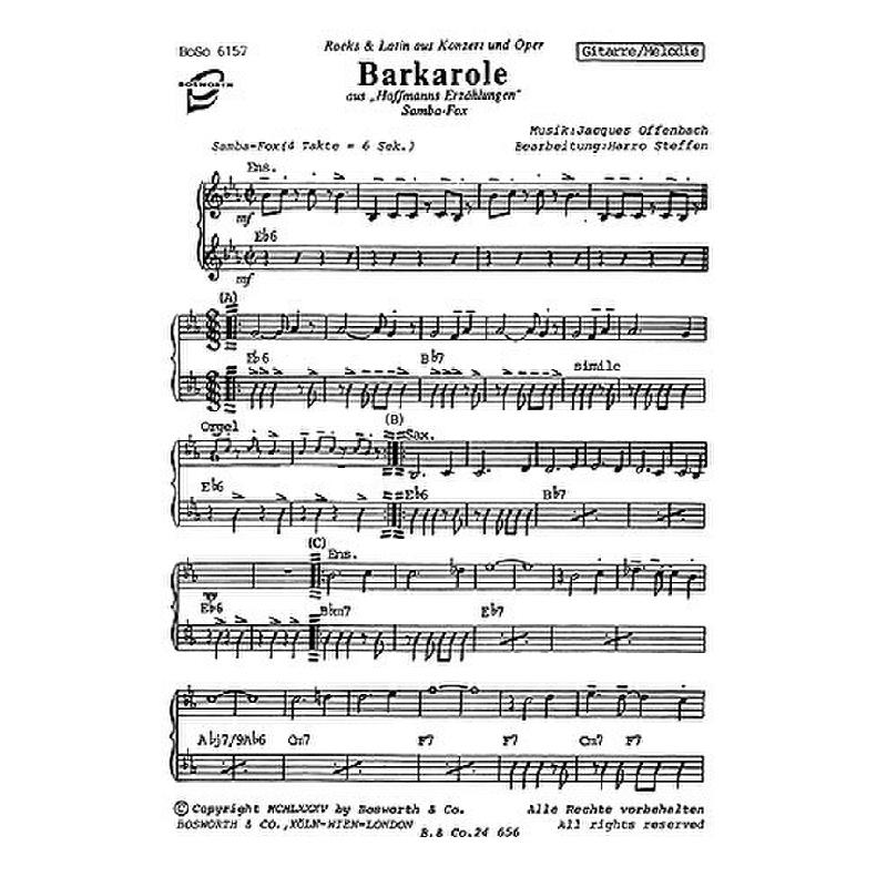 Titelbild für BOE 006157 - WARSCHAUER KONZERT + BARKAROLA (BARCAROLE AUS HOFFMANNS