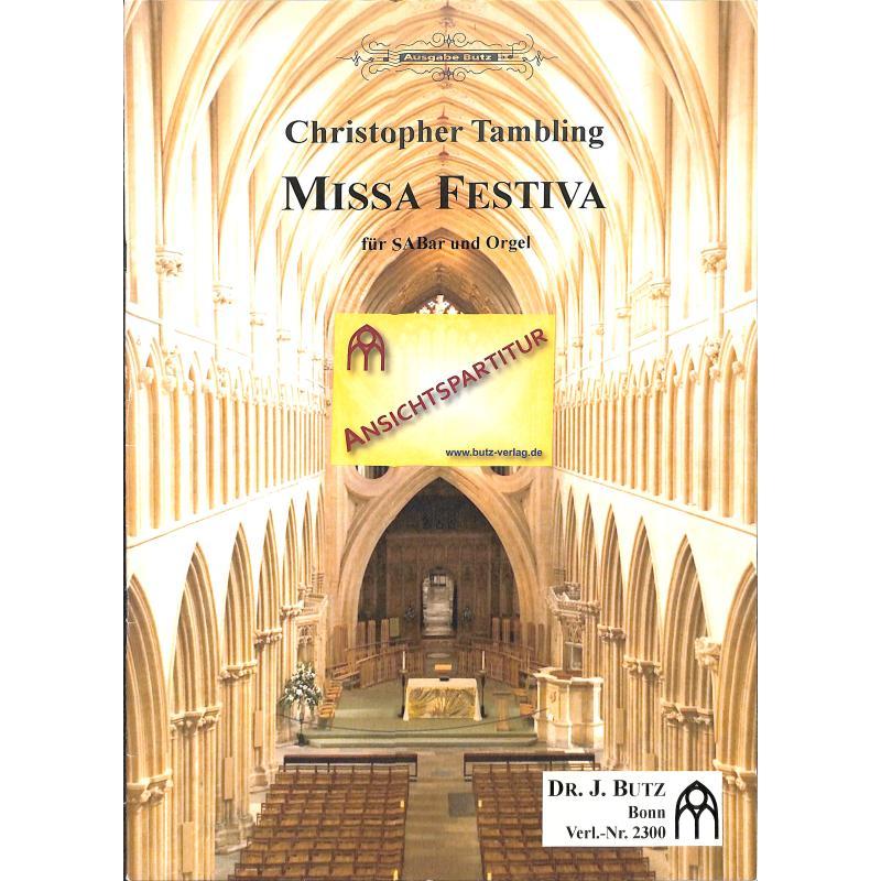 Titelbild für BUTZ 2300 - MISSA FESTIVA