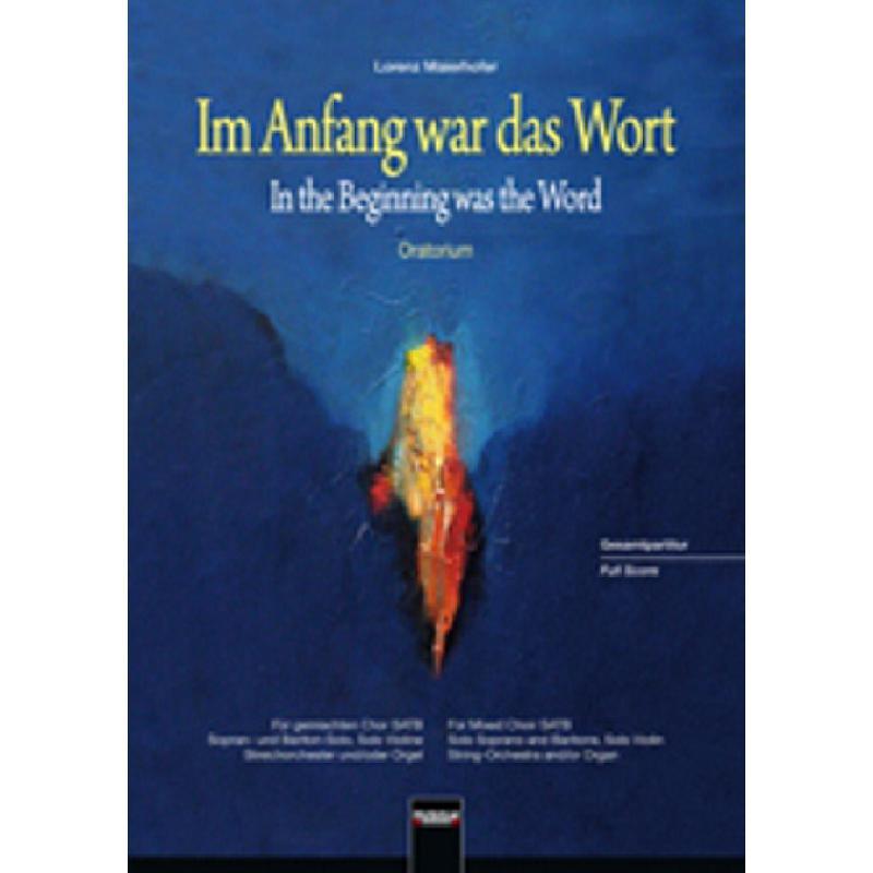 Titelbild für HELBL -C6237 - IM ANFANG WAR DAS WORT - ORATORIUM