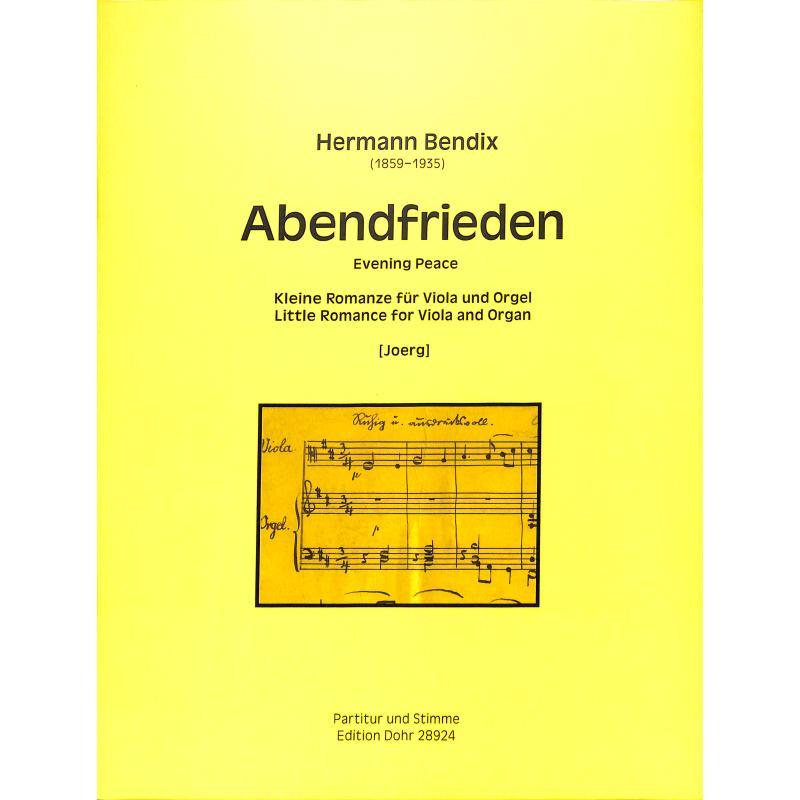 Titelbild für DOHR 28924 - ABENDFRIEDEN