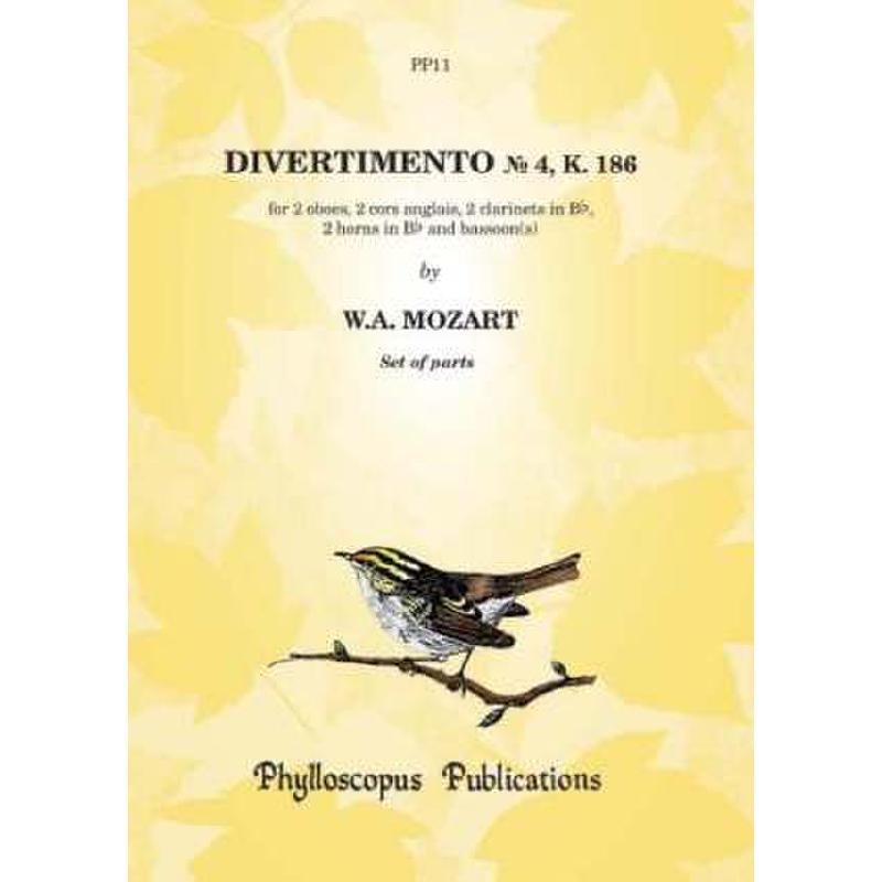Titelbild für PHYLL -PP11 - DIVERTIMENTO 4 KV 186
