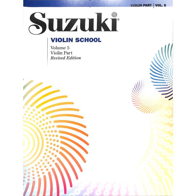 Titelbild für SBM 0152S - VIOLIN SCHOOL 5 - REVISED EDITION