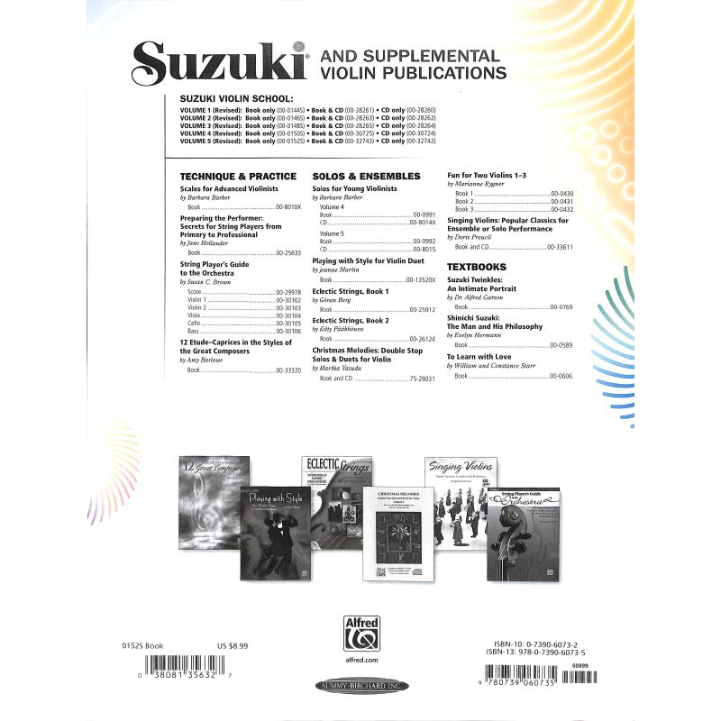 Notenbild für SBM 0152S - VIOLIN SCHOOL 5 - REVISED EDITION