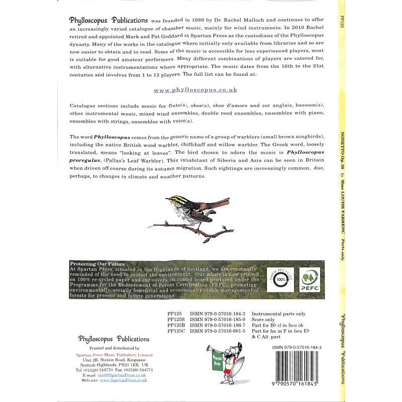 Notenbild für PHYLL -PP125 - NONETTO OP 38