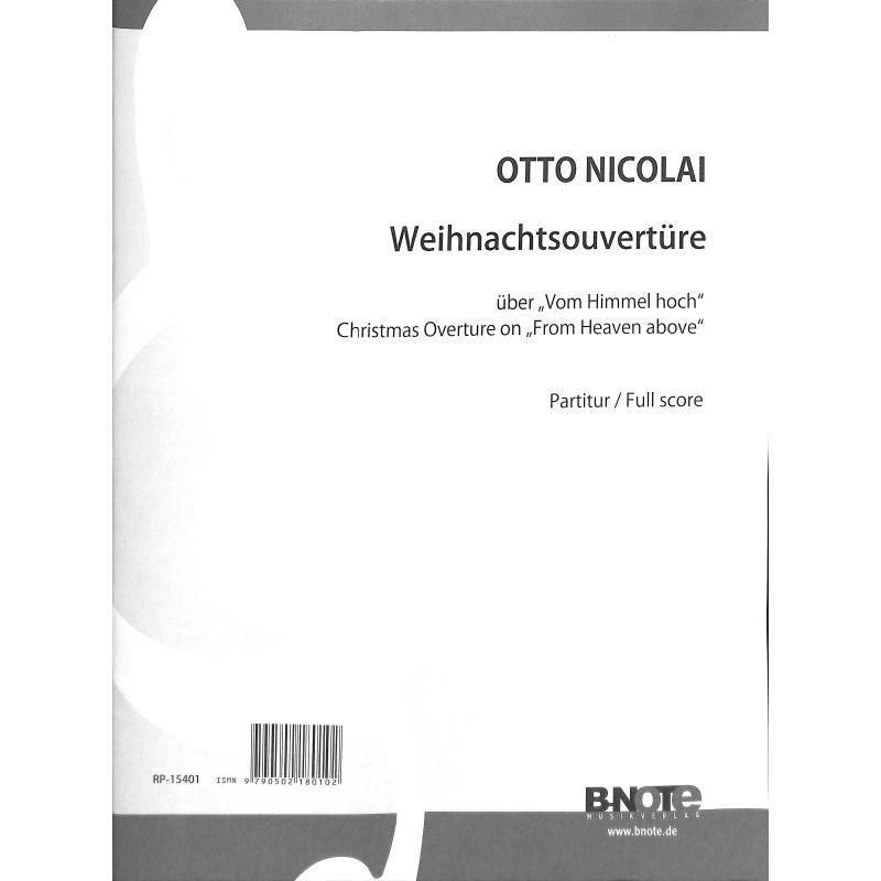 Titelbild für BNOTE -BN15401 - Weihnachtsouvertüre über Vom Himmel hoch