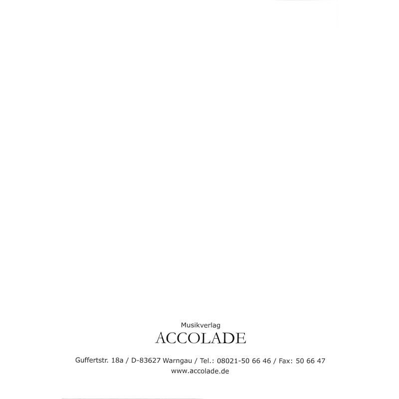 Notenbild für ACCOLADE 1269 - VOLLSTAENDIGE GRIFFTABELLE