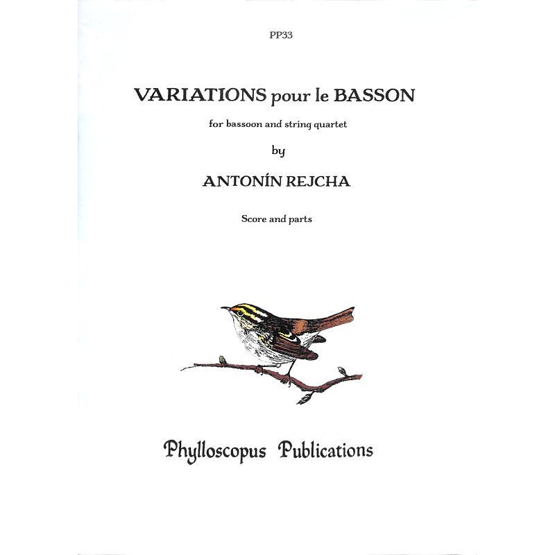 Titelbild für PHYLL -PP33 - VARIATIONS POUR LE BASSON