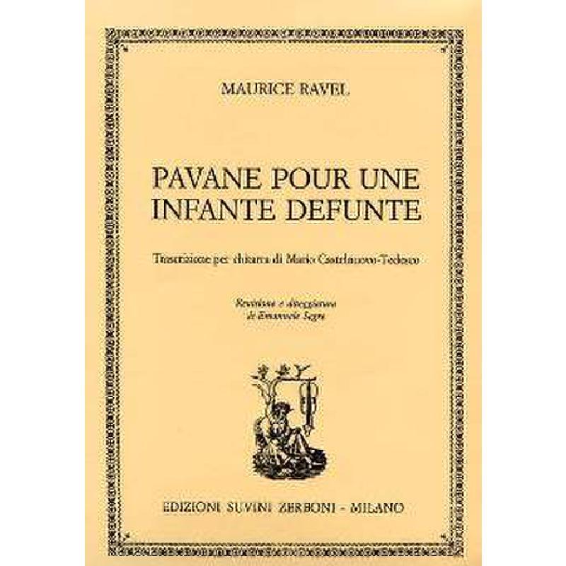 Titelbild für ESZ 10688 - PAVANE POUR UNE INFANTE DEFUNTE