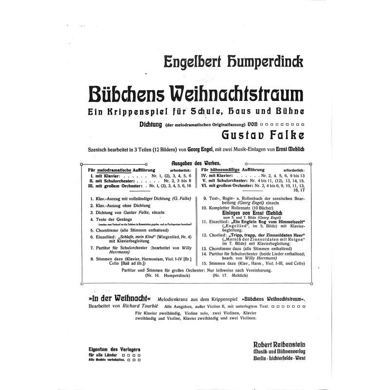 Titelbild für Intro 19800301 - BUEBCHENS WEIHNACHTSTRAUM