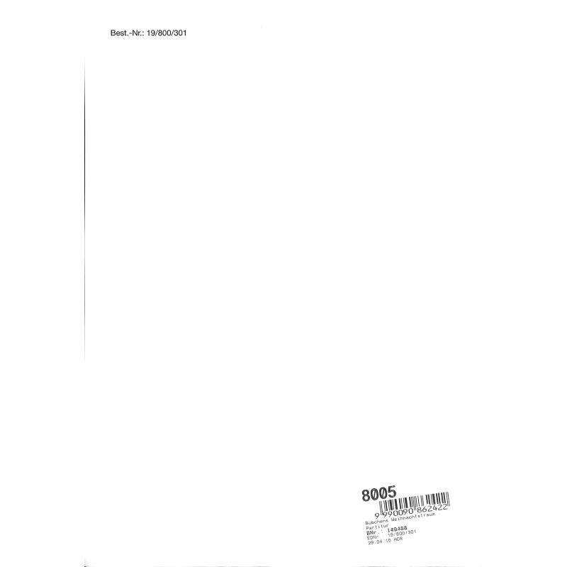 Notenbild für Intro 19800301 - BUEBCHENS WEIHNACHTSTRAUM