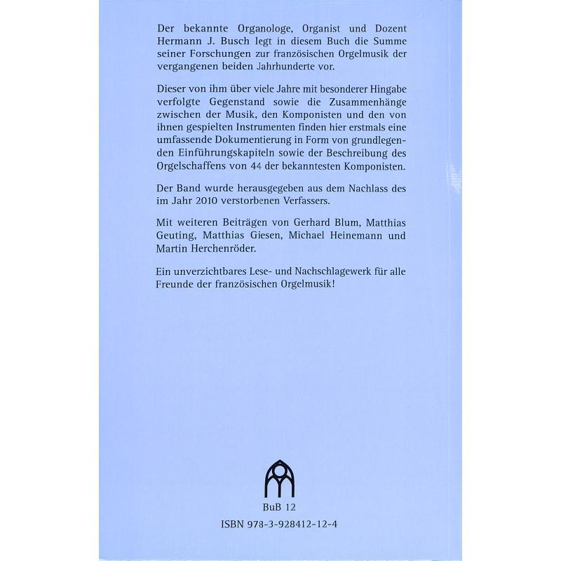 Notenbild für BUTZ -BUB12 - ZUR FRANZOESISCHEN ORGELMUSIK DES 19 + 20 JAHRHUNDERTS