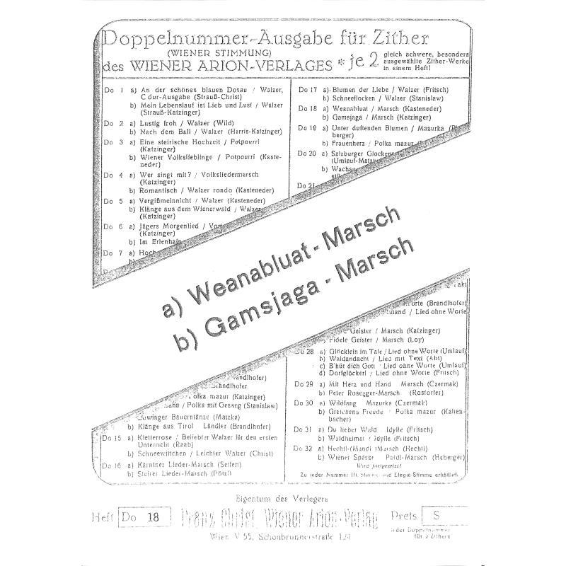 Titelbild für WEINB 1938-10 - WEANERBLUAT + GAMSJAGA MARSCH