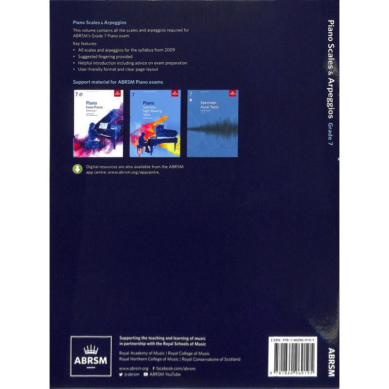 Notenbild für 978-1-86096-919-5 - SCALES + ARPEGGIOS GRADE 7