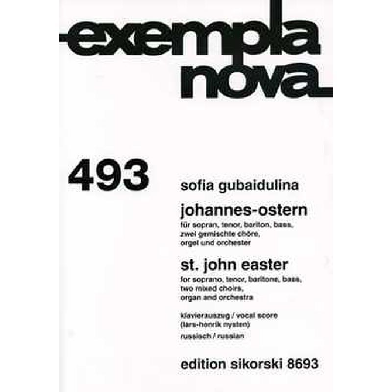 Titelbild für SIK 8693 - JOHANNES OSTERN