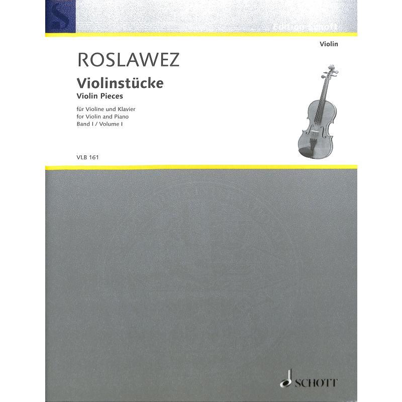 Titelbild für VLB 161 - VIOLINSTUECKE 1