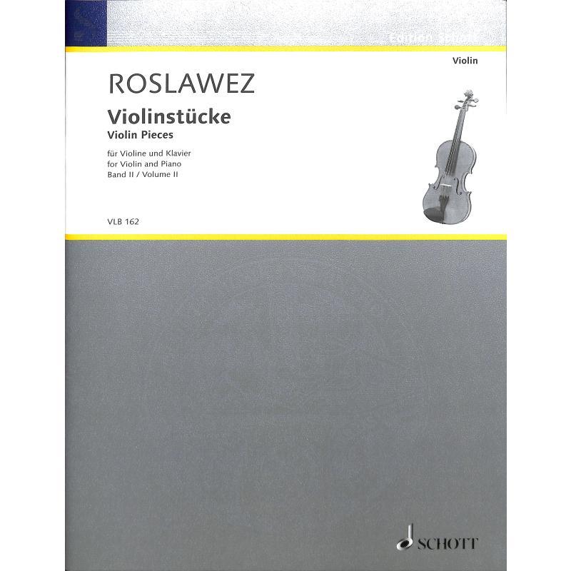Titelbild für VLB 162 - VIOLINSTUECKE 2
