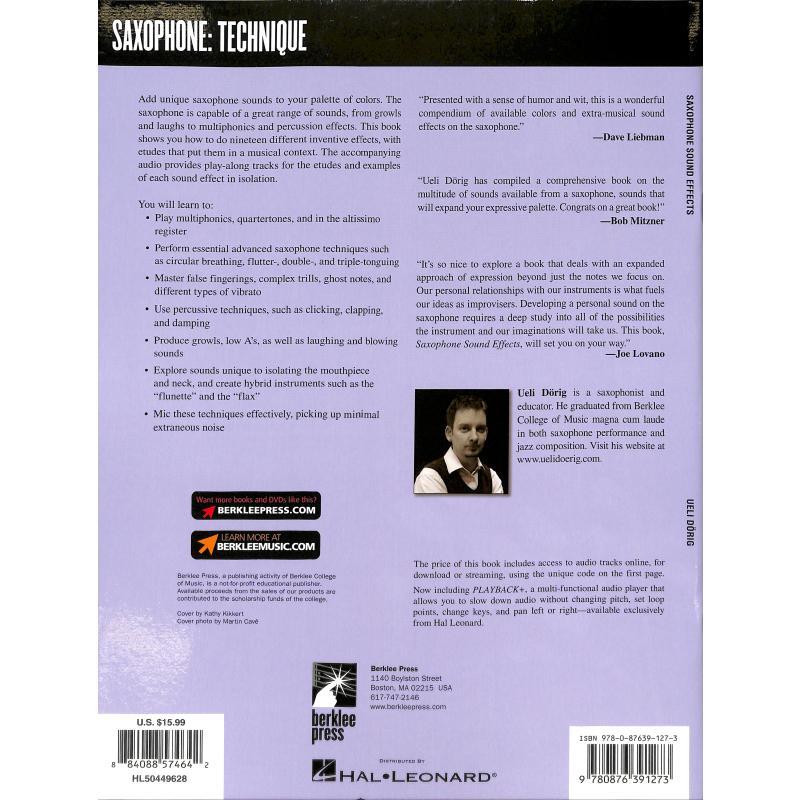 Notenbild für HL 50449628 - SAXOPHONE SOUND EFFECTS