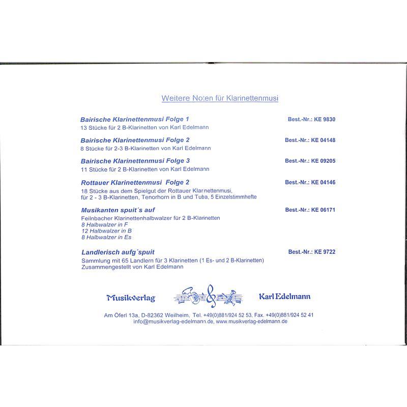 Notenbild für EDELMANN 12243 - KLARINETTENLANDLER AUS DEM OBERLAND
