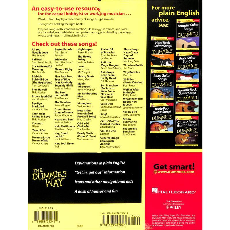 Notenbild für HL 701718 - UKULELE SONGS FOR DUMMIES