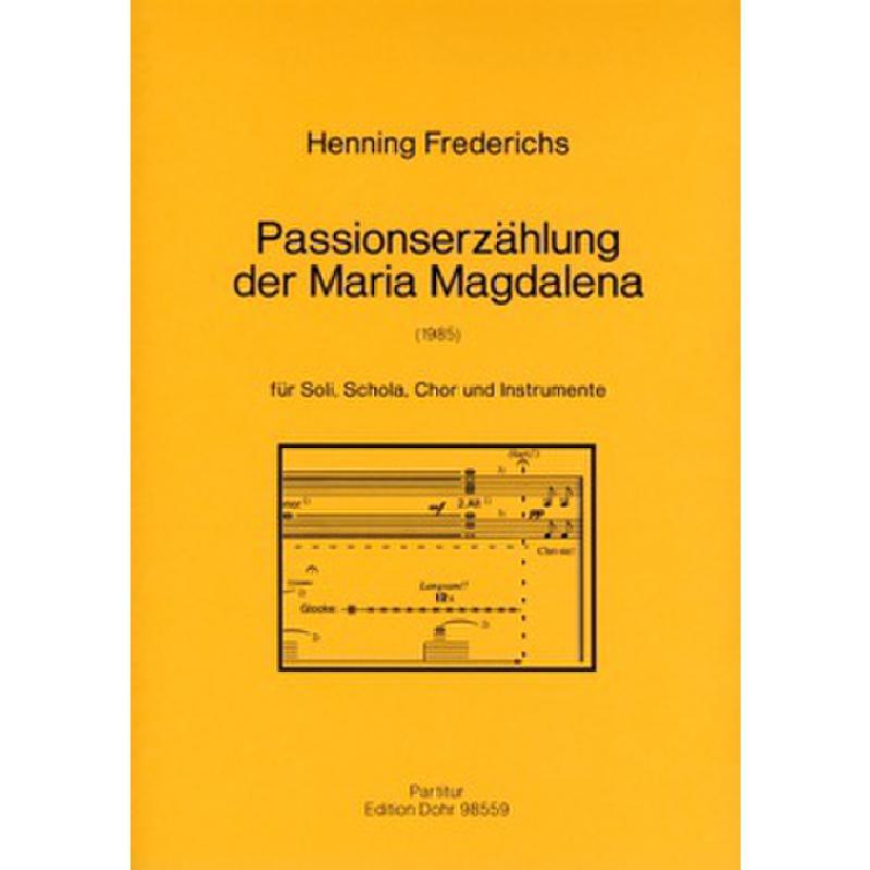 Titelbild für DOHR 98559 - PASSIONSERZAEHLUNG DER MARIA MAGDALENA