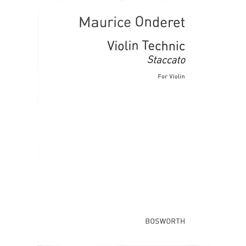 Titelbild für BOE 8458 - Violin technique   STACCATO