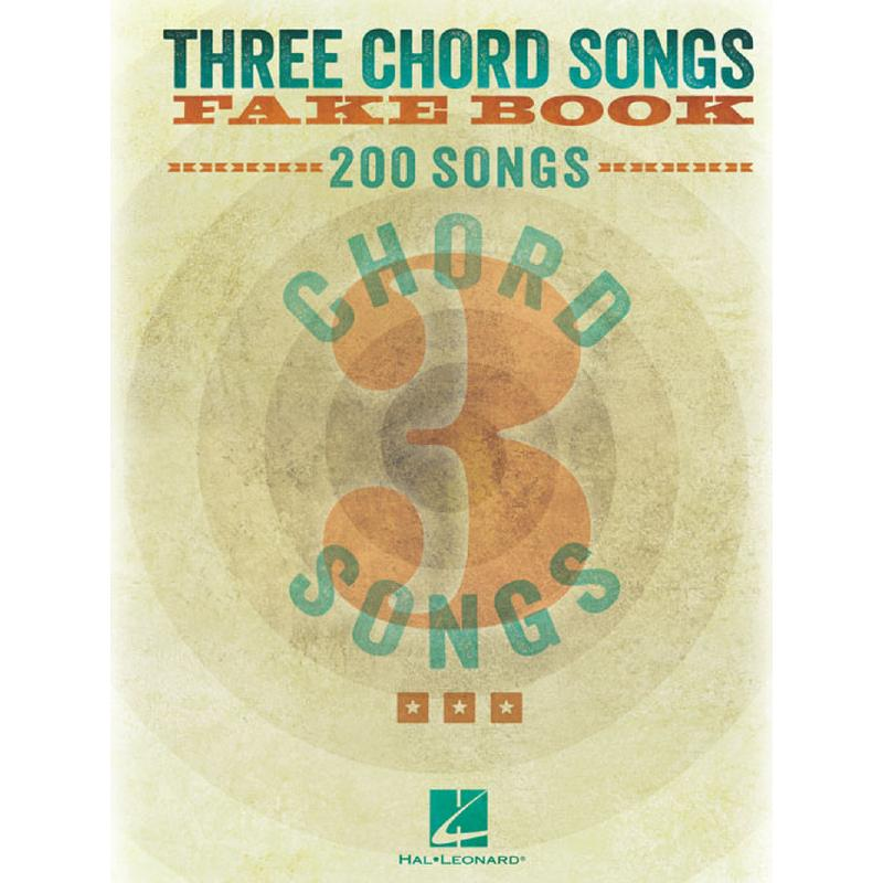 Titelbild für HL 240387 - 3 Chord Songs Fake Book