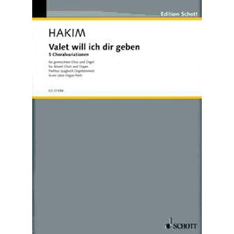 Titelbild für ED 21394 - VALET WILL ICH DIR GEBEN