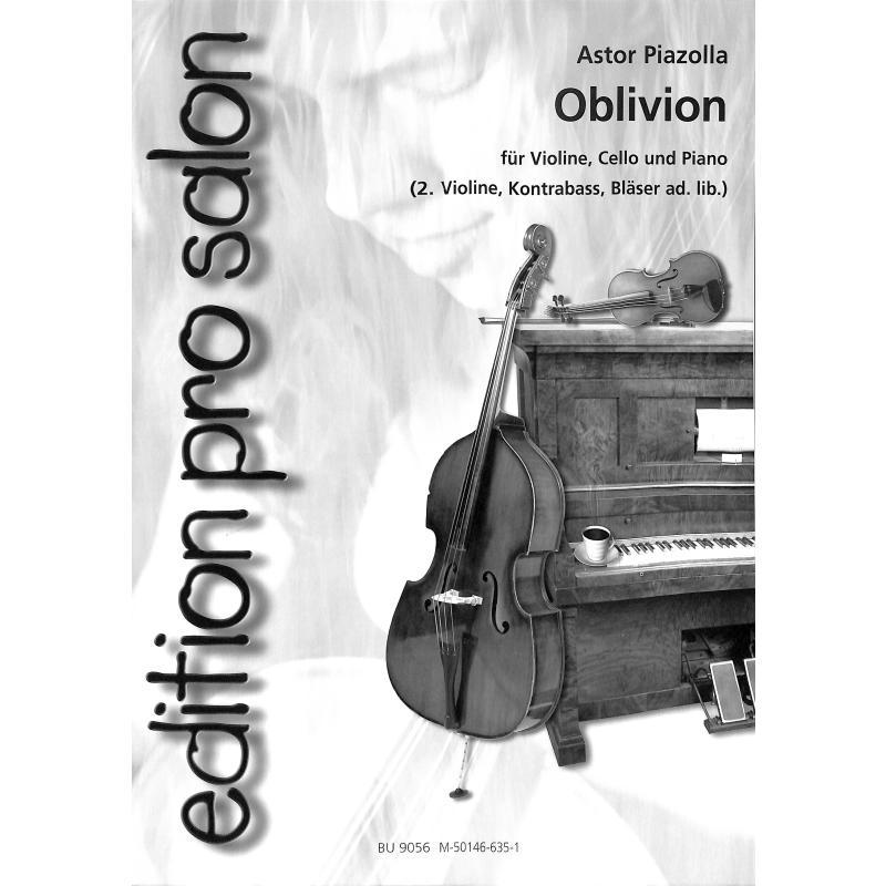 oblivion - von piazzolla astor - uetz 9056 - noten