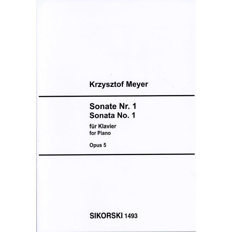 Titelbild für SIK 1493 - Sonate 1 op 5