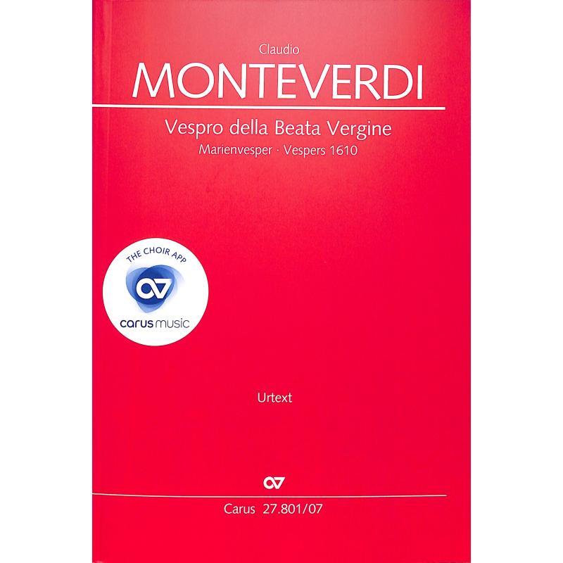 Titelbild für CARUS 27801-07 - Vespro della beata vergine - Marienvesper