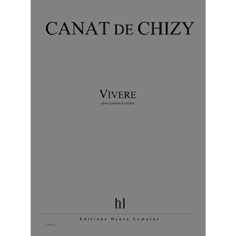 Titelbild für LEMOINE 27389 - Vivere   Quartett 1