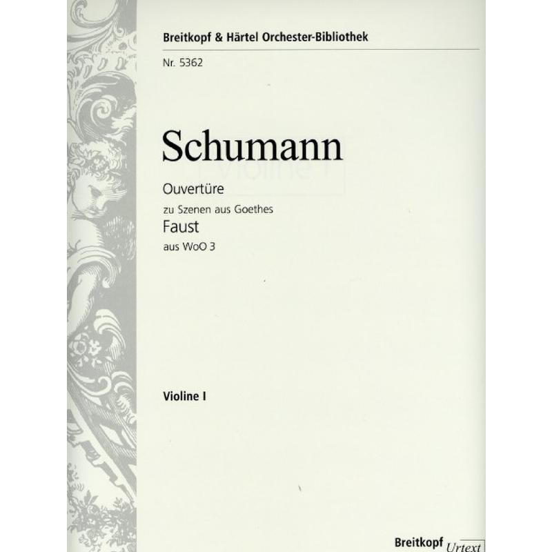 Titelbild für EBOB 5362-VL1 - Ouvertüre zu Szenen aus Goethes Faust aus WOO 3