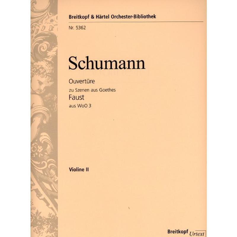 Titelbild für EBOB 5362-VL2 - Ouvertüre zu Szenen aus Goethes Faust aus WOO 3