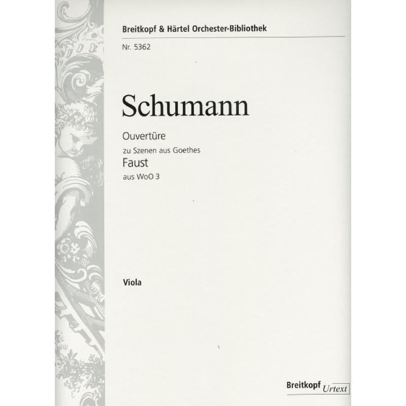 Titelbild für EBOB 5362-VA - Ouvertüre zu Szenen aus Goethes Faust aus WOO 3