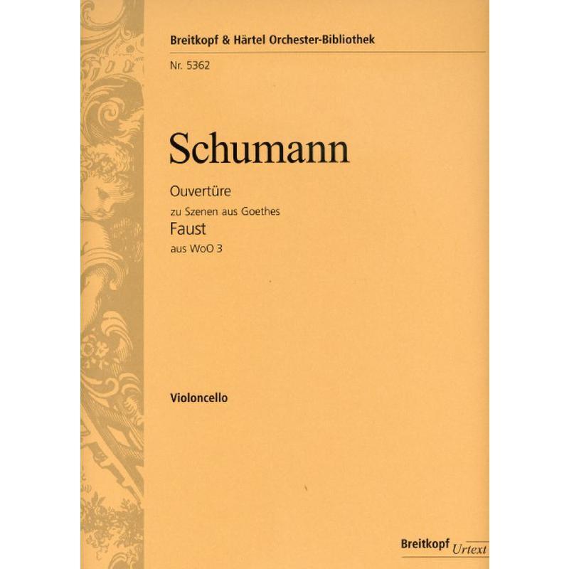 Titelbild für EBOB 5362-VC - Ouvertüre zu Szenen aus Goethes Faust aus WOO 3