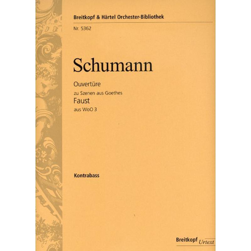 Titelbild für EBOB 5362-KB - Ouvertüre zu Szenen aus Goethes Faust aus WOO 3