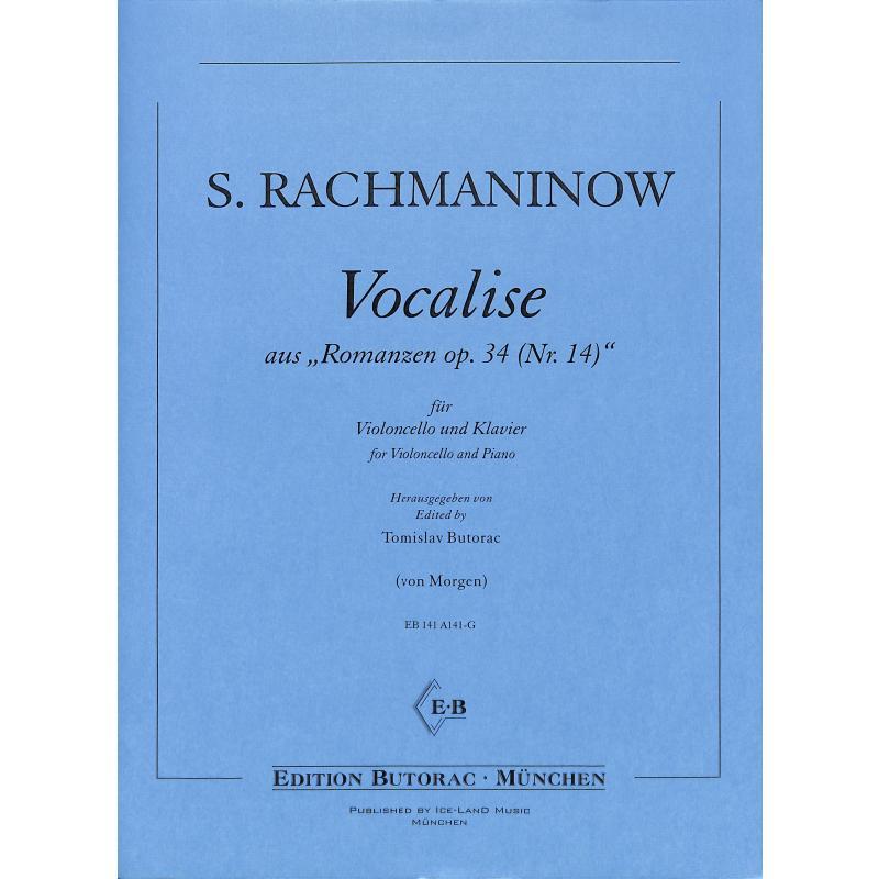 Titelbild für BUTORAC-A141-G - Vocalise op 34/14