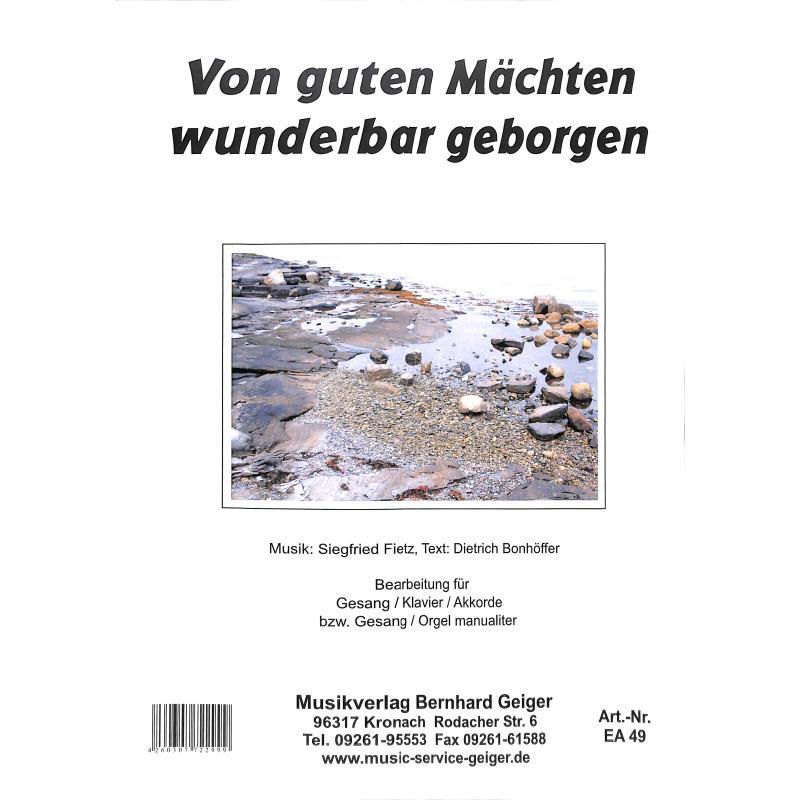 Titelbild für GEIGER -EA49 - VON GUTEN MAECHTEN WUNDERBAR GEBORGEN