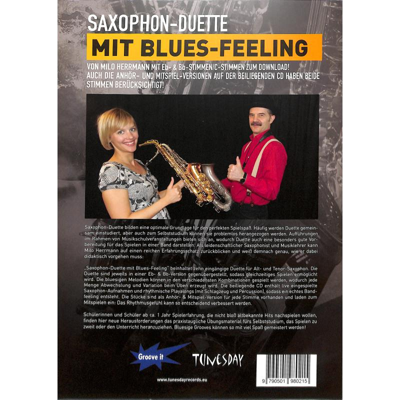 Notenbild für TUN 20 - SAXOPHON DUETTE MIT BLUES FEELING