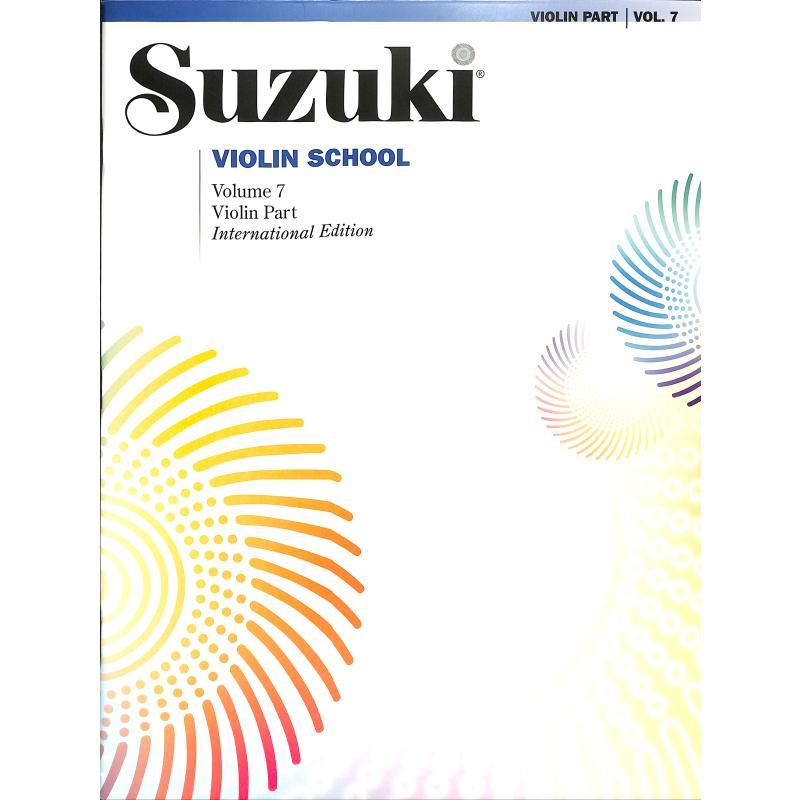 Titelbild für SBM 0156S - Violin school 7 - revised edition