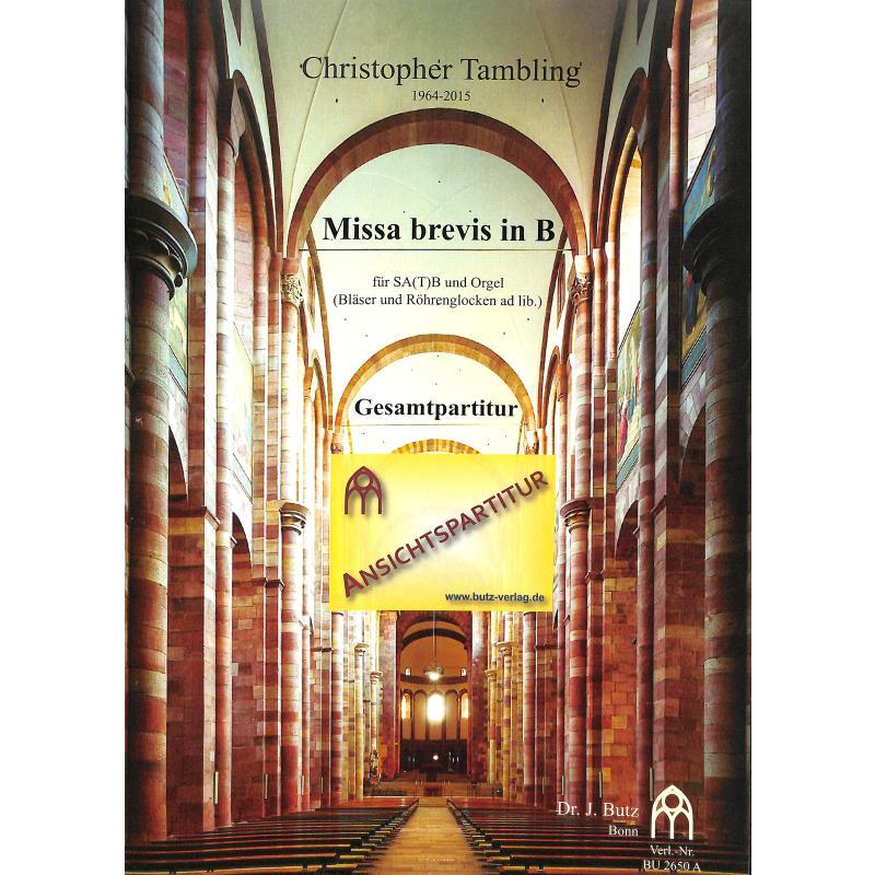 Titelbild für BUTZ 2650A - MISSA BREVIS B-DUR