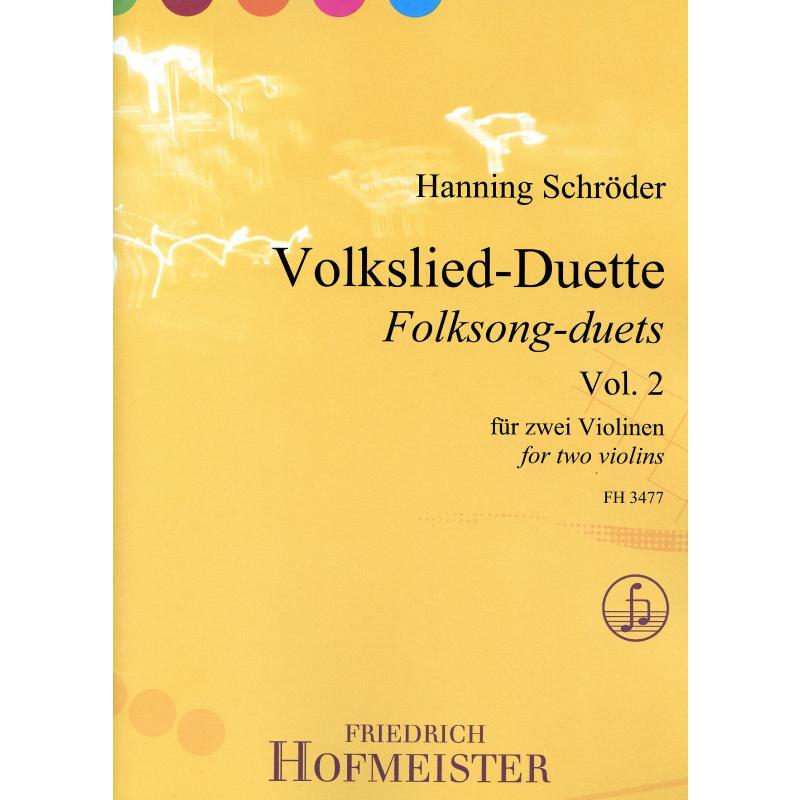 Titelbild für FH 3477 - Volkslied Duette 2