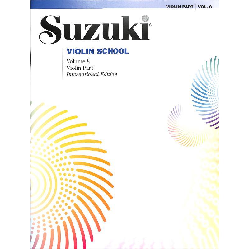 Titelbild für SBM 0158S - Violin School 8 - revised edition