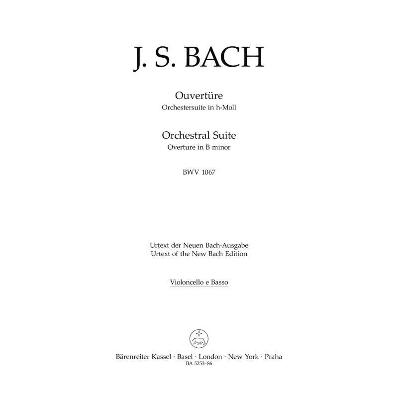 Titelbild für BA 5253-86 - OUVERTURE (ORCHESTERSUITE) H-MOLL BWV 1067