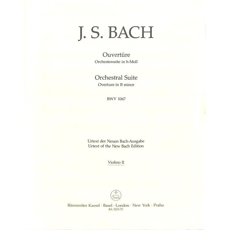 Titelbild für BA 5253-75 - OUVERTURE (ORCHESTERSUITE) H-MOLL BWV 1067